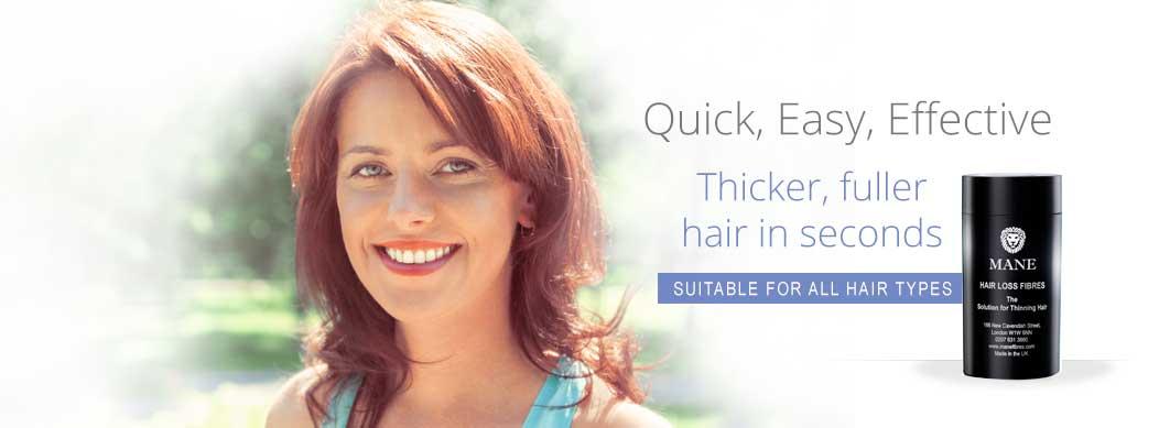 Mane Hair Loss Fibres Female