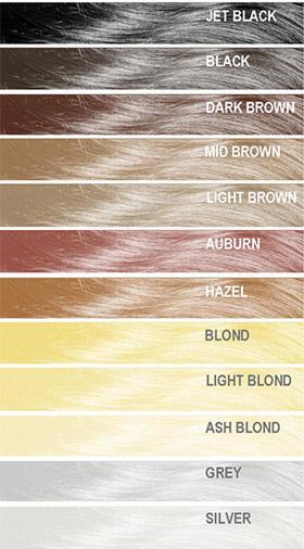 Mane Thickening Spray Colour Chart