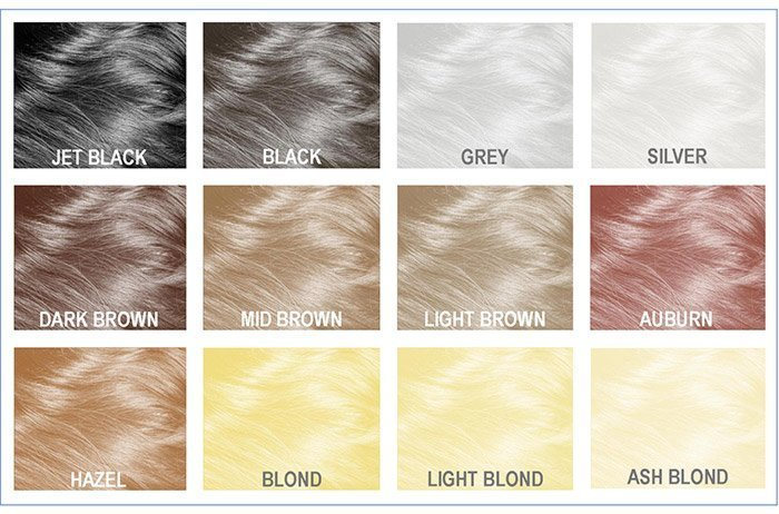 mane hair thickener colour shades