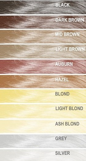 Mane Thickening Spray Colour Chart