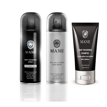 200 ml mane hair thickener, control & shampoo